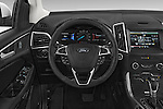 Car pictures of steering wheel view of a 2015 Ford Edge SEL 5 Door Suv Steering Wheel