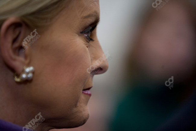 """Cindy McCain, wife of Republican presidential candidate, Senator John McCain, at a campaign rally in a push for """"Super Tuesday"""" votes. Nashville, Tennessee, February 2, 2008."""