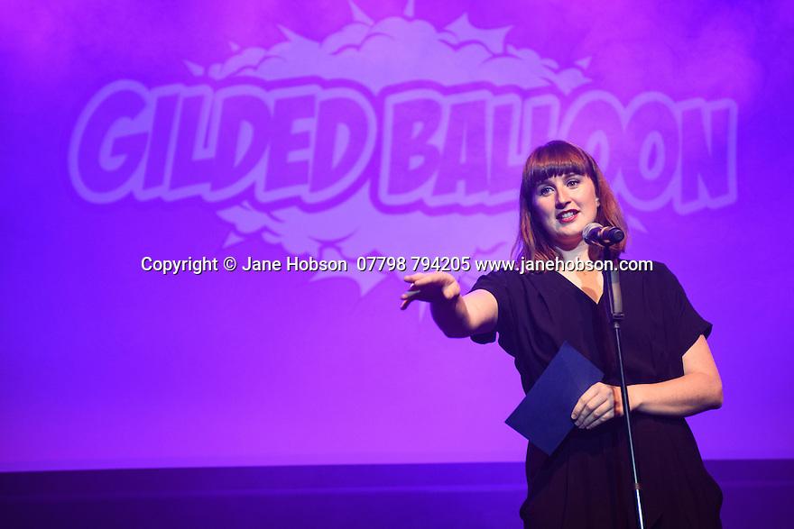 Edinburgh, UK. 04.08.2016. The Gilded Balloon launches its Edinburgh Festival Fringe 2016 programme. Picture shows: Katy Koren. Photograph © Jane Hobson.
