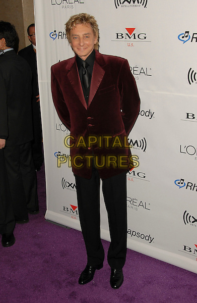 BARRY MANILOW.At The Annual Clive Davis Pre-Grammy Extravaganza held at The Beverly Hilton Hotel in Beverly Hills, California, USA, February 7, 2006..full length red velvet suit jacket black shirt tie.Ref: DVS.www.capitalpictures.com.sales@capitalpictures.com.©Debbie Van Story/Capital Pictures