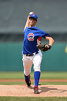 Bryan Hoeing (28) of Batesville High School in Batesville, Indiana playing for the Chicago Cubs scout team during the East Coast Pro Showcase on August 1, 2014 at NBT Bank Stadium in Syracuse, New York.  (Mike Janes/Four Seam Images)