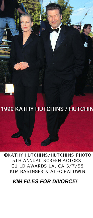 Kiim Basinger & Alec Baldwin..5th Screen Actor's Guild Awards..LA, CA  ..March 7, 1999..©1999 Kathy Hutchins / Hutchins Photo