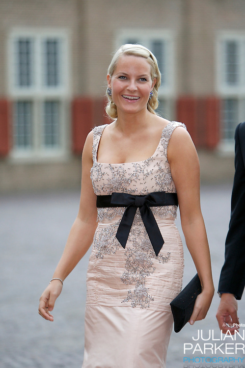 Crown Princess Mette-Marit of Norway, arrives for a Reception at Het Loo Palace in Apeldoorn, to celebrate the 40th Birthday of Crown Prince Willem Alexander, The Prince turned forty in April earlier this year.