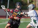La Canada, CA 03/15/14 - Owen Weselak (Torrey Pines #40) in action during the Torrey Pines vs De La Salle Boy's lacrosse game at St Francis High School in Pasadena.  Torrey Pines defeated De La Salle 10-6.