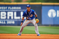 Biloxi Shuckers shortstop Orlando Arcia (2) during the first game of a double header against the Pensacola Blue Wahoos on April 26, 2015 at Pensacola Bayfront Stadium in Pensacola, Florida.  Biloxi defeated Pensacola 2-1.  (Mike Janes/Four Seam Images)