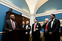 James Clyburn, Dr. Klaus Schiaroth, Ed Foster-Simeon. The 2010 US Soccer Foundation Gala was held at City Center in Washington, DC.