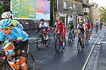 The start of the Women Elite Road Race of the UCI World Championships 2019 running 149.4km from Bradford to Harrogate, England. 28th September 2019.<br /> Picture: Seamus Yore | Cyclefile<br /> <br /> All photos usage must carry mandatory copyright credit (© Cyclefile | Seamus Yore)