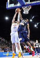 Pau GASOL / Ronny TURIAF - 15.07.2012 - France / Espagne - Match de preparation JO 2012 -Paris..Photo : Amandine Noel / Icon Sport