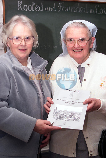 Sr. Isabelle Smyth and Sr. Anastasia Taggart at the launch of thier new boook in the MMM's on  Thursday night..Picture Paul Mohan Newsfile