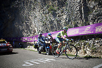 Rafal Majka (POL/Tinkoff) is the first rider up the Lacets du Grand Colombier (Cat1/891m/8.4km/7.6%) <br /> <br /> stage 15: Bourg-en-Bresse to Culoz (160km)<br /> 103rd Tour de France 2016