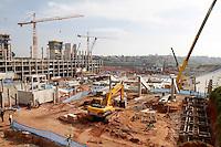 SÃO PAULO,SP,22 MAIO 2012 -  VISTORIA OBRAS ITAQUERÃO <br /> Vista das obras da Arena de Itaquera, na capital paulista.FOTO ALE VIANNA - BRAZIL PHOTO PRESS.