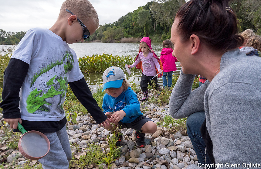 Kindergarten children of King George VI School explore Canatara Park, Lake Chipican and the Animal Farm during a weekly outing.