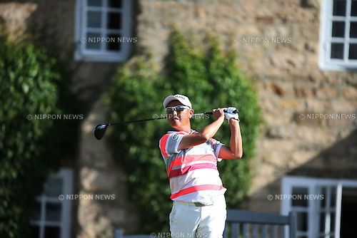 Toru Taniguchi (JPN),<br /> JULY 18, 2013 - Golf :<br /> Toru Taniguchi of Japan in action on 10th hole during the first round of the 142nd British Open Championship at Muirfield in Gullane, East Lothian, Scotland. (Photo by Koji Aoki/AFLO SPORT)