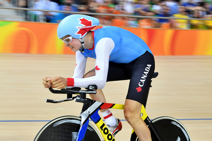 Para-Cycling final 1000m Time Trial Men's C3 at the Rio 2016 Paralympic Games , no podium for him (Photo by Jean-Baptiste Benavent/Canadian Paralympic Committee.
