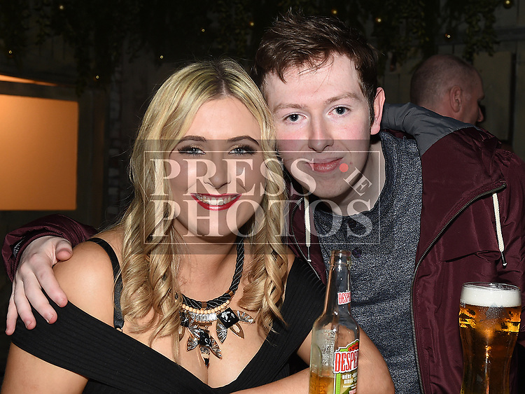 Eimear Eustace and Ryan O'Dowd enjoying the New year weekend in The Weavers. Photo:Colin Bell/pressphotos.ie