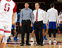 Stanford, California - December 18, 2018: Stanford Cardinal men's basketball defeated San José State 78-73 at Maples Pavilion in Stanford, California.