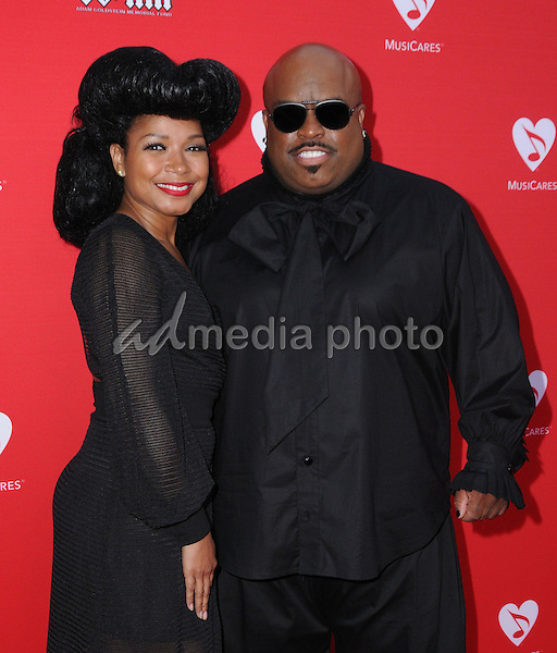 19 May 2016 - Los Angeles, California - Shani James, Cee-Lo Green. Arrivals for the 12th Annual MusiCares MAP Fund Benefit Concert Honoring Smokey Robinson held at The Novo by Micosoft. Photo Credit: Birdie Thompson/AdMedia