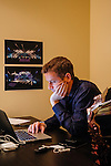 Geoff Keighley produces The Game Awards, which will take place in Los Angeles in December. He works in his office to prep for the upcoming video game awards event in Los Angeles, California, November 5, 2015.
