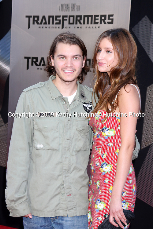 "Emile Hirsch & Date arriving at the ""Transformers: Revenge of the Fallen"" Premiere at the Mann's Village Theater in Westwood, CA  on June 22, 2009.  .©2009 Kathy Hutchins / Hutchins Photo"