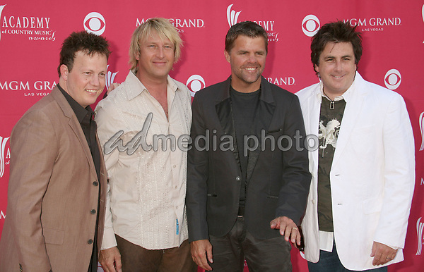 15 May 2007 - Las Vegas, Nevada - Dean Sams, Keech Rainwater, Richie McDonald and Michael Britt of 'Lonestar'. 42nd Annual Academy Of Country Music Awards held at the MGM Grand Garden Arena. Photo Credit: Byron Purvis/AdMedia