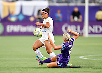 Orlando, FL - Saturday Sept. 24, 2016: Desiree Scott, Kaylyn Kyle during a regular season National Women's Soccer League (NWSL) match between the Orlando Pride and FC Kansas City at Camping World Stadium.