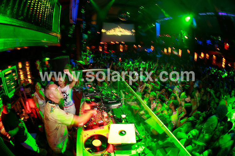 **ALL ROUND PICTURES FROM SOLARPIX.COM**.*WORLDWIDE RIGHTS*.Fatboy Slim, Zane Lowe and Mark Ronson DJ at Manumission in Amnesia nightclub, Ibiza, 31st August 2007...This pic: Fatboy Slim..JOB REF: 4616 GMT   DATE: 31_08_2007.**MUST CREDIT SOLARPIX.COM OR DOUBLE FEE WILL BE CHARGED* *UNDER NO CIRCUMSTANCES IS THIS IMAGE TO BE REPRODUCED FOR ANY ONLINE EDITION WITHOUT PRIOR PERMISSION*