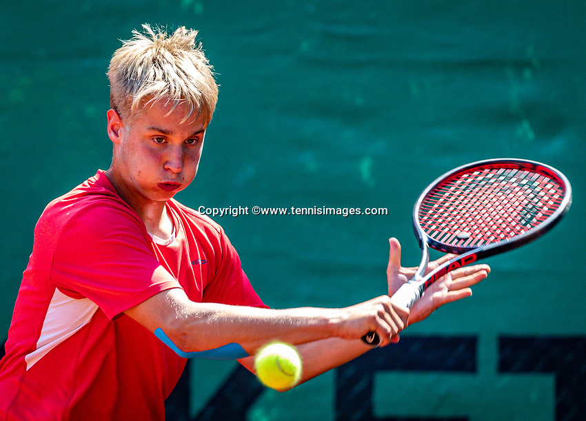 Hilversum, Netherlands, Juli 29, 2019, Tulip Tennis center, National Junior Tennis Championships 12 and 14 years, NJK, Daan Meijer (NED)<br /> Photo: Tennisimages/Henk Koster