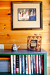 Top selling author Karin Slaughter does all her writing in a cabin in Epworth, Georgia. Her father Howard built the 2,400 square foot cabin for her. A photograph of folk art on display in a sun room in the cabin, seen June 13, 2010..CREDIT: Kendrick Brinson/LUCEO.KarinSlaughter