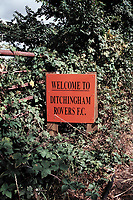 Entrance sign at Ditchingham Rovers FC Football Ground, Bungay, Suffolk, pictured on 29th August 1995