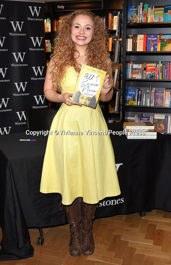 Carrie Hope Fletcher book signing at Waterstones, Piccadilly on May 7th 2015<br /> <br /> Photo by Vivienne Vincent