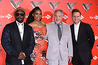 Will.I.Am, Jennifer Hudson, Sir Tom Jones &amp; Olly Murs at the photocall for The Voice UK 2018 launch at Ham Yard Hotel, London, UK. <br /> 03 January  2018<br /> Picture: Steve Vas/Featureflash/SilverHub 0208 004 5359 sales@silverhubmedia.com