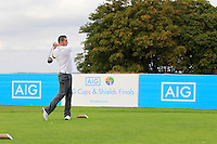 Gary Dunphy (Waterford) on the 10th tee during the AIG Jimmy Bruen Shield Final between Lisselan &amp; Waterford in the AIG Cups &amp; Shields at Carton House on Saturday 20th September 2014.<br /> Picture:  Thos Caffrey / www.golffile.ie