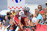 Nils Politt (GER) Team Katusha Alpecin 2nd from the breakaway over the summit of the Cat 3 climb of Cote d'Eschdorf during Stage 3 of the 104th edition of the Tour de France 2017, running 212.5km from Verviers, Belgium to Longwy, France. 3rd July 2017.<br /> Picture: Eoin Clarke | Cyclefile<br /> <br /> All photos usage must carry mandatory copyright credit (&copy; Cyclefile | Eoin Clarke)