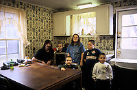 New York, Plattsburg. New York, Plattsburg. This family are the parents of four disturbed boys, all suffering from ADD, ADHD. One son, 9, is suicidal and depressed and abusive, so no knives are allowed in the house.