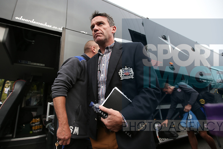 Bath Head Coach, Mike Ford arrives at Adam's Park - Rugby Union - 2014 / 2015 Aviva Premiership - Wasps vs. Bath - Adams Park Stadium - London - 11/10/2014 - Pic Charlie Forgham-Bailey/Sportimage