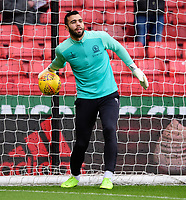 Blackburn Rovers' David Raya during the pre-match warm-up<br /> <br /> Photographer Chris Vaughan/CameraSport<br /> <br /> The EFL Sky Bet Championship - Sheffield United v Blackburn Rovers - Saturday 29th December 2018 - Bramall Lane - Sheffield<br /> <br /> World Copyright © 2018 CameraSport. All rights reserved. 43 Linden Ave. Countesthorpe. Leicester. England. LE8 5PG - Tel: +44 (0) 116 277 4147 - admin@camerasport.com - www.camerasport.com