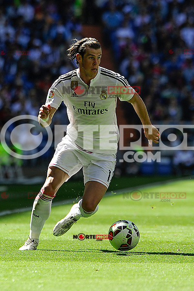 Real Madrid´s Gareth Bale during 2014-15 La Liga match between Real Madrid and Granada at Santiago Bernabeu stadium in Madrid, Spain. April 05, 2015. (ALTERPHOTOS/Luis Fernandez) /NORTEphoto.com