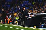 Simeone, RCD Espanyol 1 v 0 Atletico de Madrid, RCDE Stadium, Barcelona. La Liga Santander 2017/2018, Jornada 17. Photo Martin Seras Lima