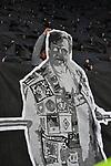 10.03.2018, BayArena, Leverkusen , GER, 1.FBL., Bayer 04 Leverkusen vs. Borussia Moenchengladbach<br /> im Bild / picture shows: <br /> Choregarfie der Gladbacher Kurve <br /> <br /> <br /> Foto © nordphoto / Meuter
