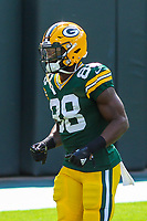 Green Bay Packers running back Ty Montgomery (88) during a National Football League game against the Seattle Seahawks on September 10, 2017 at Lambeau Field in Green Bay, Wisconsin. Green Bay defeated Seattle 17-9. (Brad Krause/Krause Sports Photography)