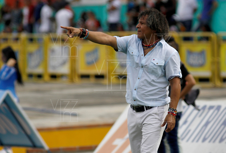 NEIVA - COLOMBIA, 27-08-2017: Alberto Gamero técnico de Deportes Tolima gesticula durante partido contra Atlético Huila por la fecha 10 de la Liga Águila II 2017 jugado en el estadio Guillermo Plazas Alcid de la ciudad de Neiva. / Alberto Gamero coach of Deportes Tolima gestures during match against Atletico Huila for the date 10 of the Aguila League II 2017 played at Guillermo Plazas Alcid in Neiva city. VizzorImage / Sergio Reyes / Cont
