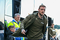 Leeds United's Liam Cooper steps off the coach at Deepdale<br /> <br /> Photographer Alex Dodd/CameraSport<br /> <br /> The EFL Sky Bet Championship - Preston North End v Leeds United -Tuesday 9th April 2019 - Deepdale Stadium - Preston<br /> <br /> World Copyright &copy; 2019 CameraSport. All rights reserved. 43 Linden Ave. Countesthorpe. Leicester. England. LE8 5PG - Tel: +44 (0) 116 277 4147 - admin@camerasport.com - www.camerasport.com