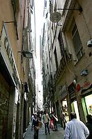 Uno scorcio della Citta' Vecchia, nel centro storico di Genova.<br /> Typical narrow streets in old sailor's quarter of downtown Genoa.<br /> UPDATE IMAGES PRESS/Riccardo De Luca