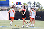 DURHAM, NC - FEBRUARY 16: Campbell's Julia Markey (8). The Duke University Blue Devils hosted the Campbell University Camels on February 16, 2018, at Koskinen Stadium in Durham, NC in women's college lacrosse match. Duke won the game 18-8.