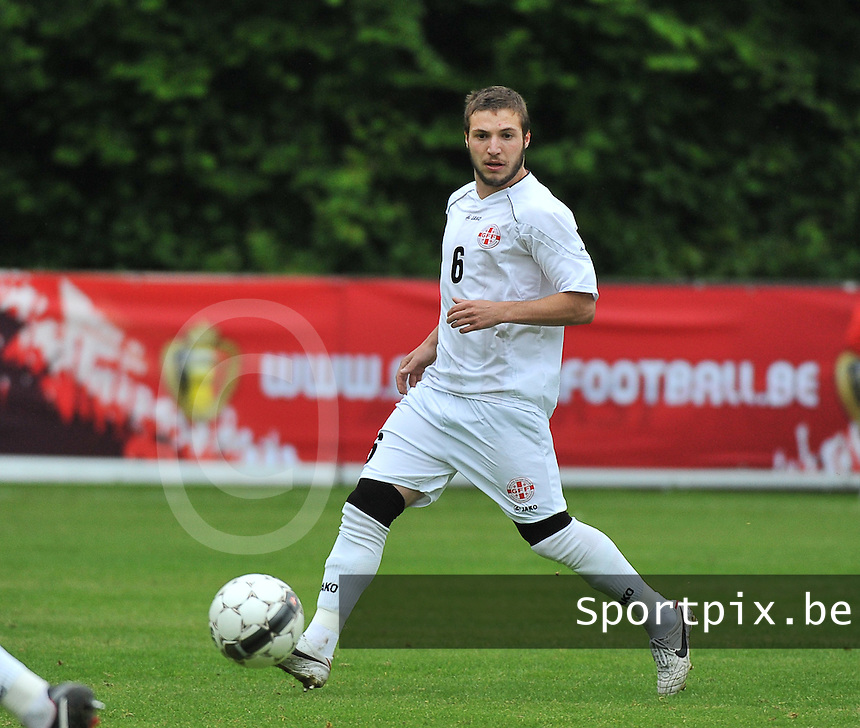 Georgia U19 - Belgium U19 : Daviti Ubilava<br /> foto DAVID CATRY / Nikonpro.be
