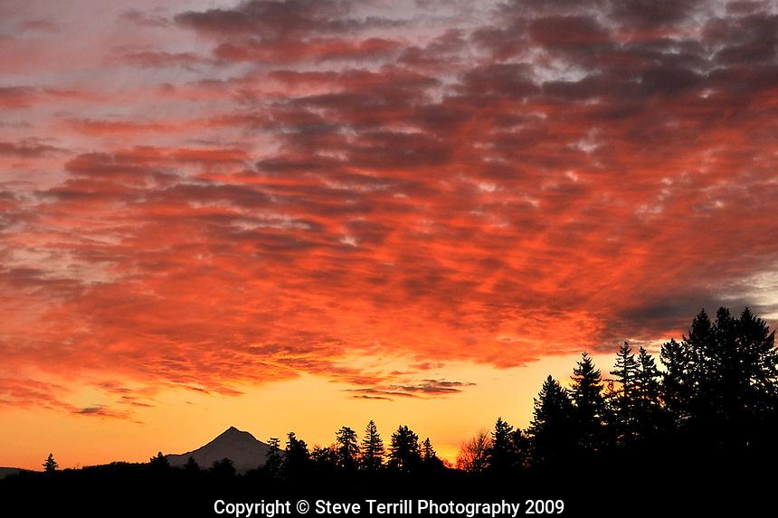 Sunrise over Mt. Hood Oregon from Multnomah County Oregon