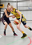 2018-02-18 / Basketbal / Seizoen 2017-2018 / Okido Arendonk - Grimbergen / Michiels (r. Okido) met Gaillard<br /> <br /> ,Foto: Mpics.be