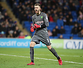 1st December 2017, Cardiff City Stadium, Cardiff, Wales; EFL Championship Football, Cardiff City versus Norwich City; Angus Gunn of Norwich City celebrates as his team go 1-0 up in the 42nd minute of the game