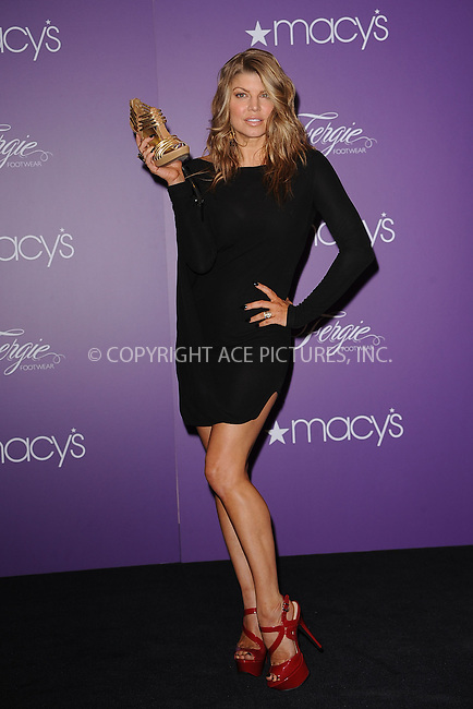 WWW.ACEPIXS.COM . . . . . .April 21, 2011...New York City... Fergie makes a special appearance to celebrate the Spring 2011 shoe collection of Fergie Footwear at Macy's Herald Square on April 21, 2011 in New York City.....Please byline: KRISTIN CALLAHAN - ACEPIXS.COM.. . . . . . ..Ace Pictures, Inc: ..tel: (212) 243 8787 or (646) 769 0430..e-mail: info@acepixs.com..web: http://www.acepixs.com .
