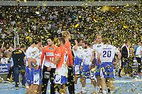 HSV bedrückt im Flitterregen - Tag des Handball, Rhein-Neckar Löwen vs. Hamburger SV, Commerzbank Arena